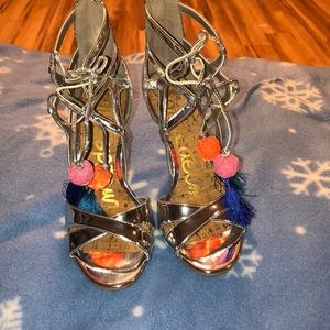 Sam Edelman azela silver strappy heels size 7.5